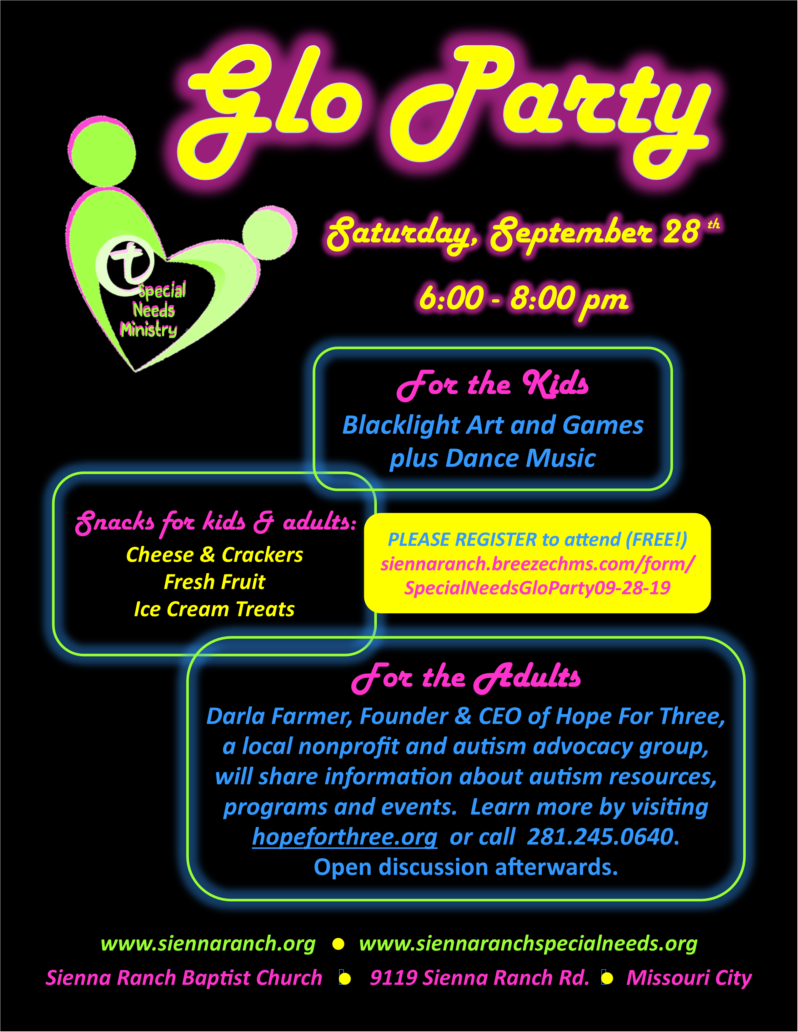 Special Needs Glo Party